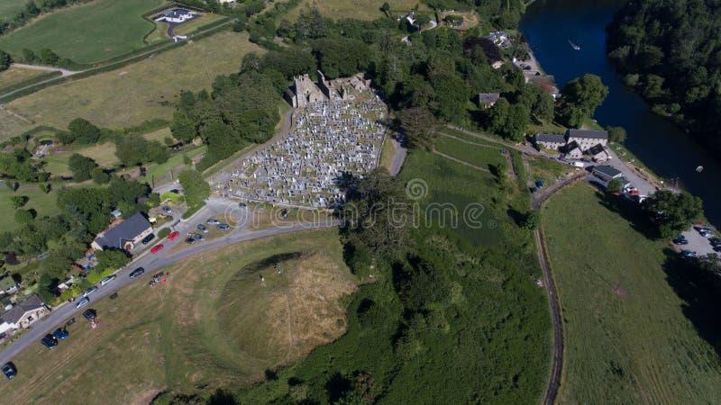 Friedhof St. Mullins und klösterlicher Standort Grafschaft Carlow irland stockbild