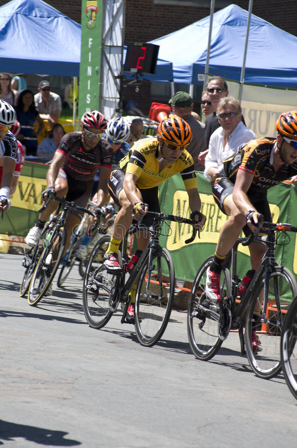 Friedman Wins in Stillwater Criterium stock photography
