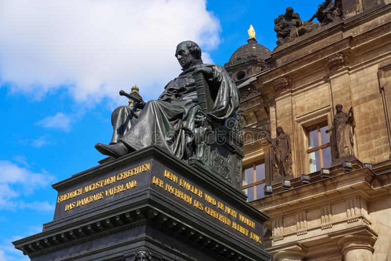 Friedrich August II Denkmal Dresden statue Germany. Friedrich August II Denkmal Dresden monument in Germany stock photography