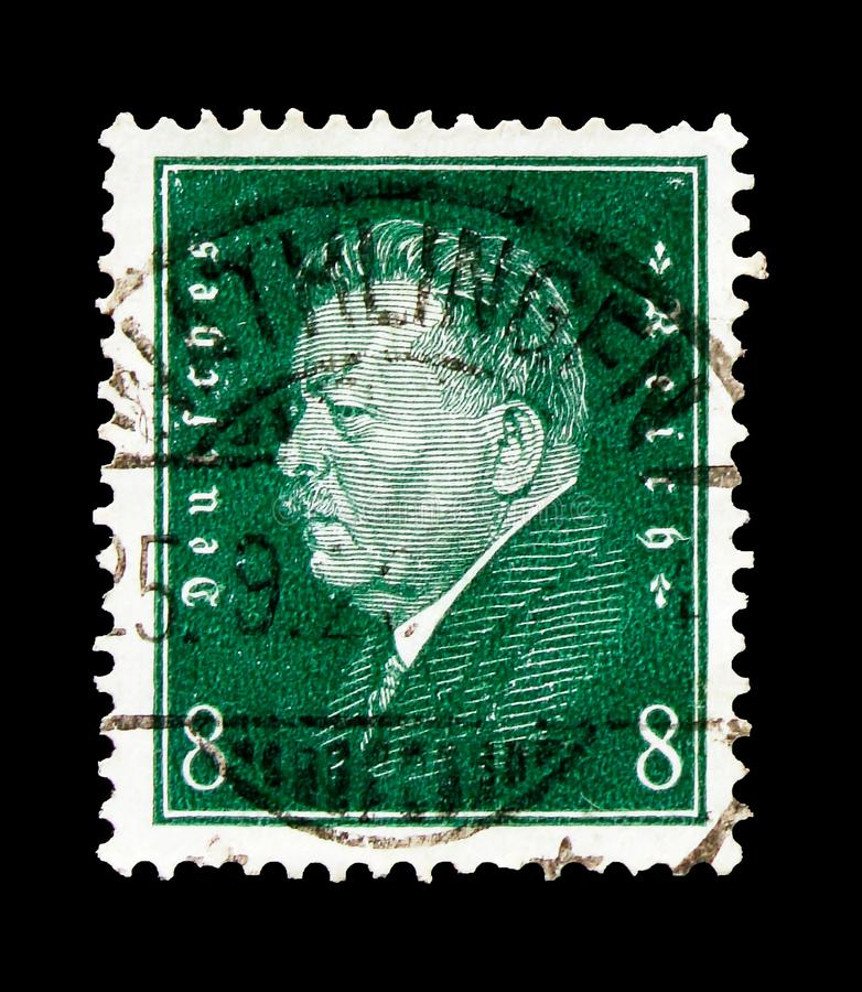 Friedrich Ebert 1871-1925, presidentes del serie de Alemania, circa 1928 imagen de archivo