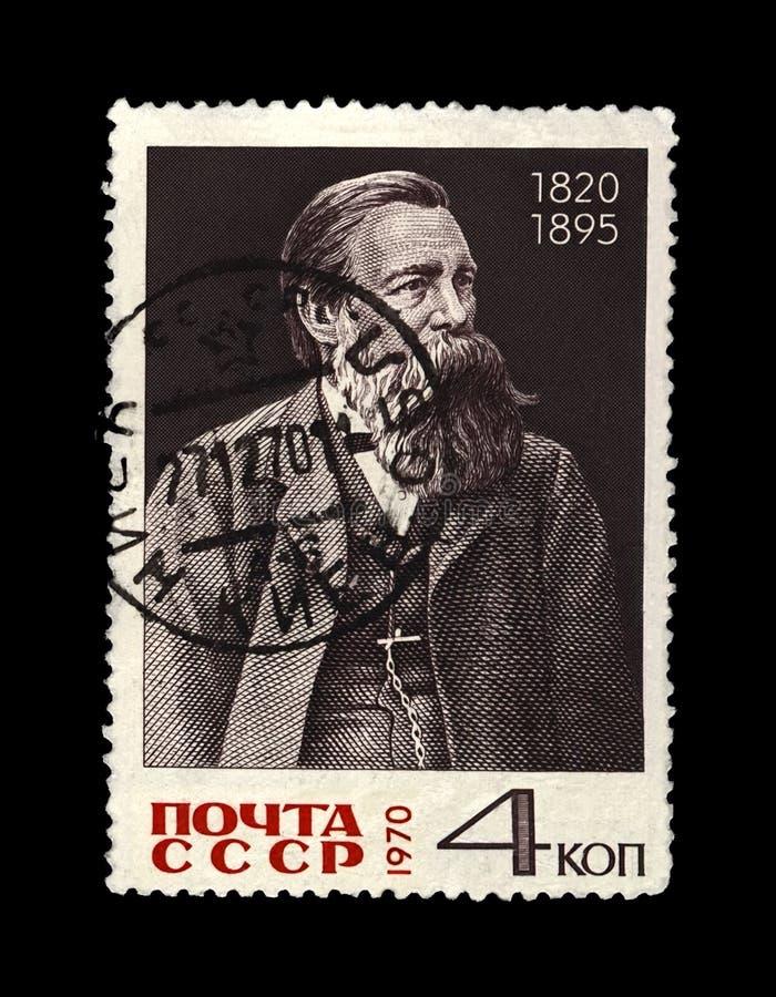Friedrich Engels 1820-1895, líder famoso del político, URSS, circa 1970, fotos de archivo libres de regalías