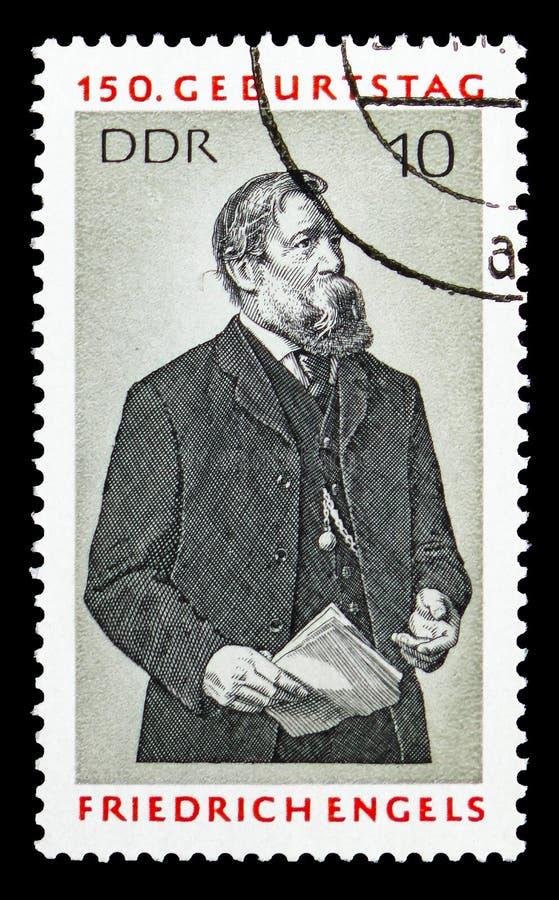 Friedrich Engels serie, circa 1970 royaltyfri fotografi