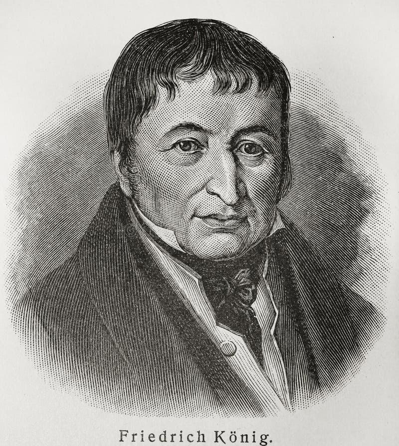Friedrich Koenig vector illustratie