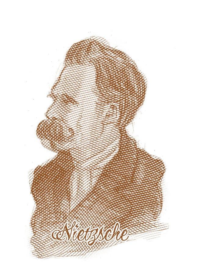 Download Friedrich Nietzsche Engraving Style Sketch Portrait Editorial Photography - Image: 28952947