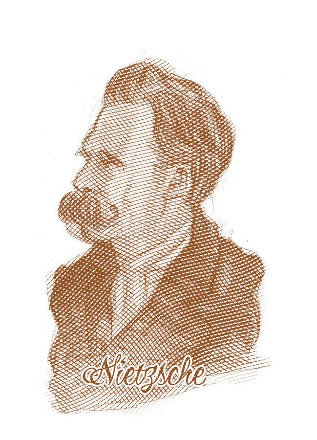 Friedrich Nietzsche rytownictwa stylu nakreślenia portret