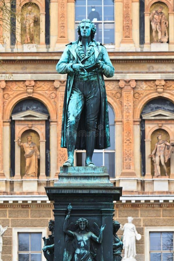 Friedrich Schiller Statue Royalty Free Stock Photography