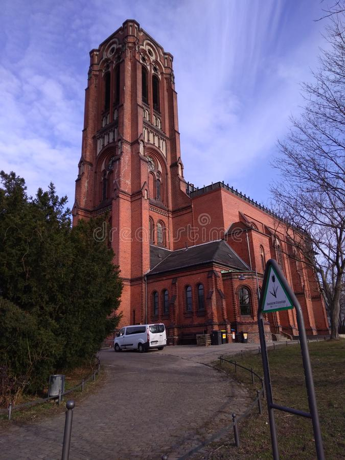 Friedrichain de temple d'église de Berlin image stock