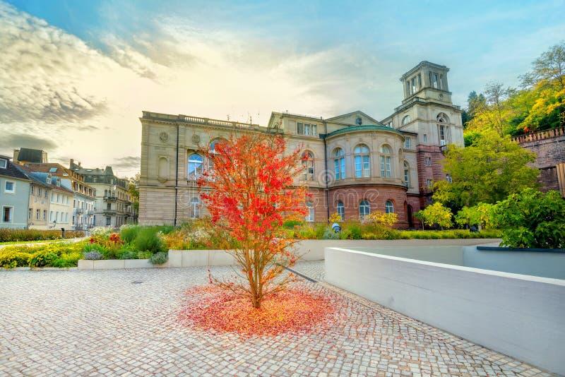 Friedrichsbad风景看法与热量浴的在度假胜地巴登-巴登,德国 免版税库存图片