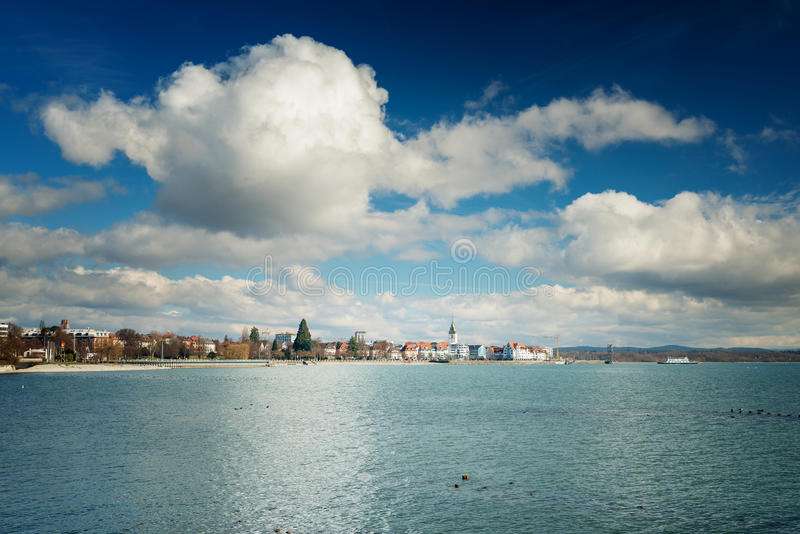 Friedrichshafen, Germany. View of the small city Friedrichshafen, Germany stock image