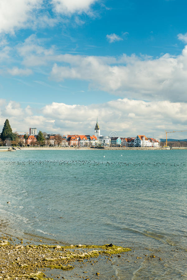 Friedrichshafen, Germany. View of the small city Friedrichshafen, Germany royalty free stock image
