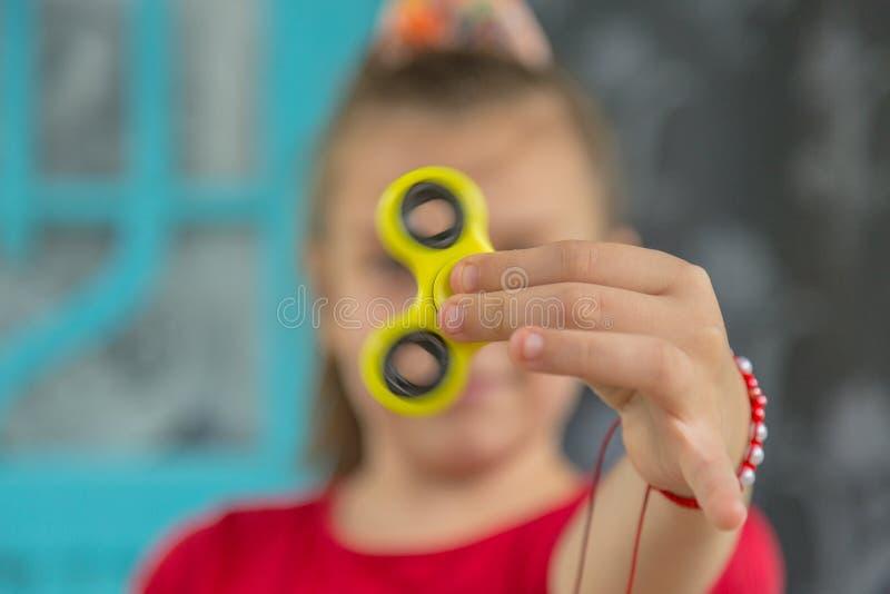 Friemel vingerspinner stock afbeelding