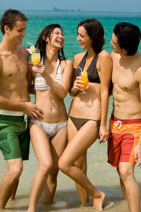 Download Friend On Beach stock photo. Image of couples, group, women - 4614756