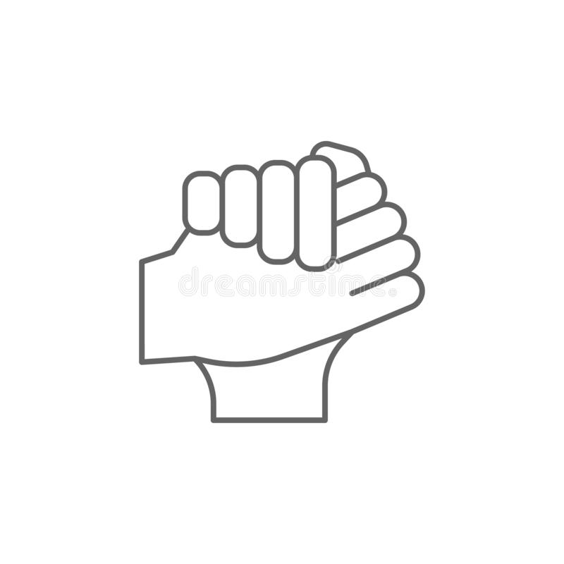 Friend, hands, brotherhood icon. Element of friendship icon. Thin line icon for website design and development, app development. royalty free illustration