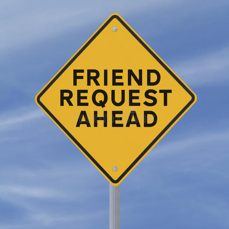 Download Friend Request Ahead stock illustration. Illustration of caution - 26987314