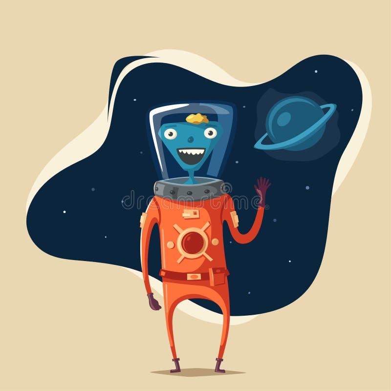 Free Friendly Alien. Cartoon Vector Illustration Royalty Free Stock Photo - 85774955