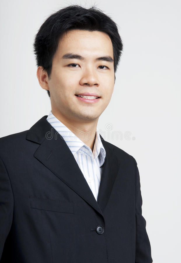 Friendly Asian executive stock image