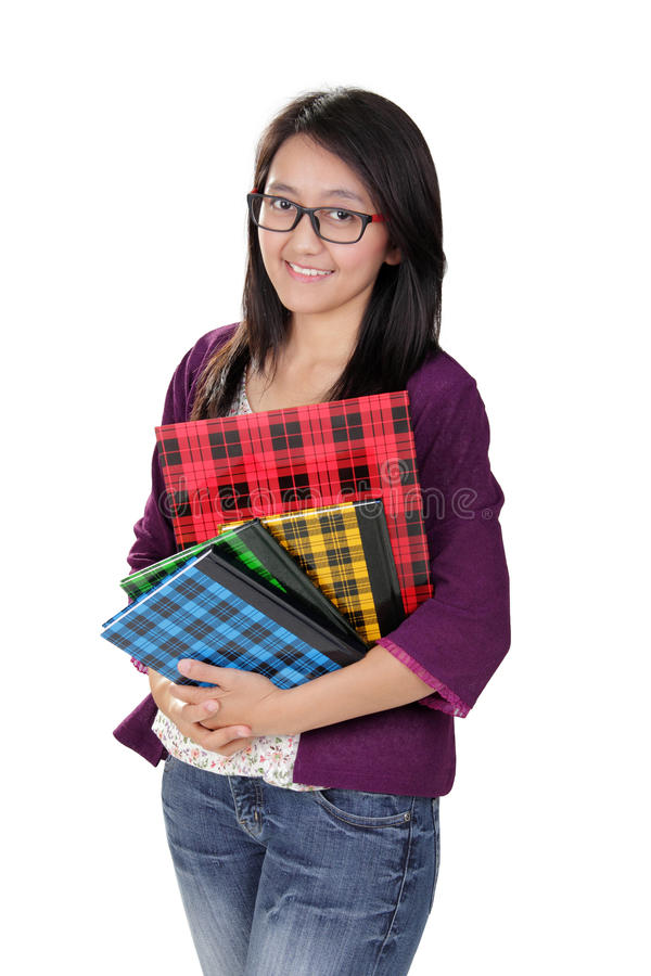 Friendly Asian student royalty free stock images