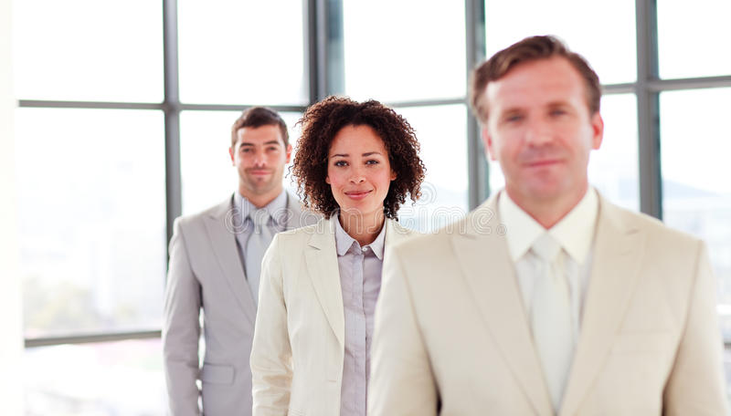 Download Friendly Attractive Businesswoman In A Line Stock Images - Image: 9892804