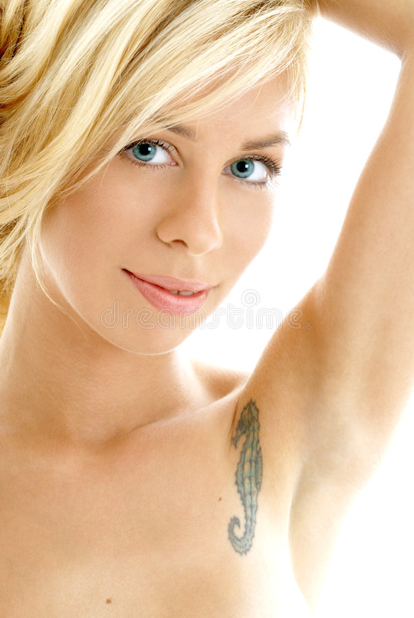 Friendly blond portrait royalty free stock images