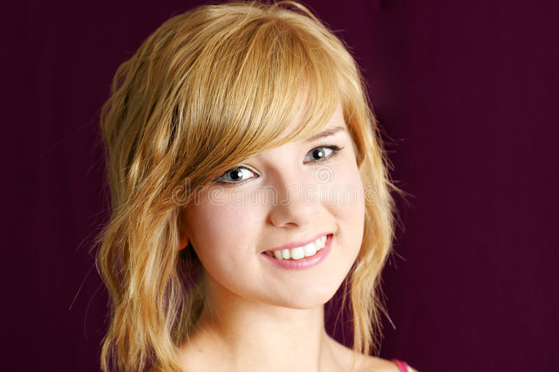 Download Friendly Blond Teenager Girl Smiling Stock Photo - Image: 26343654