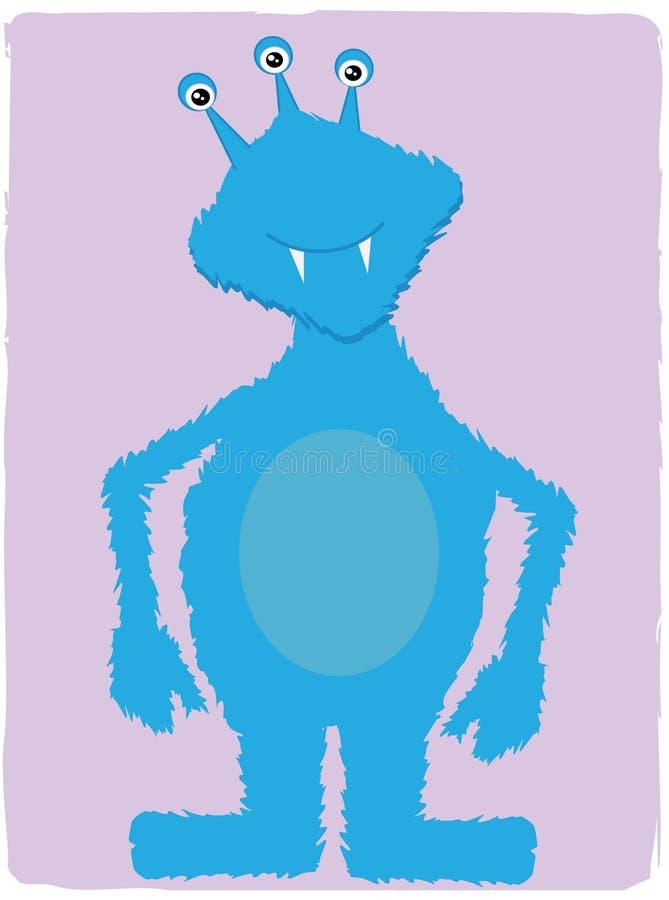 Friendly Blue Monster Stock Photo