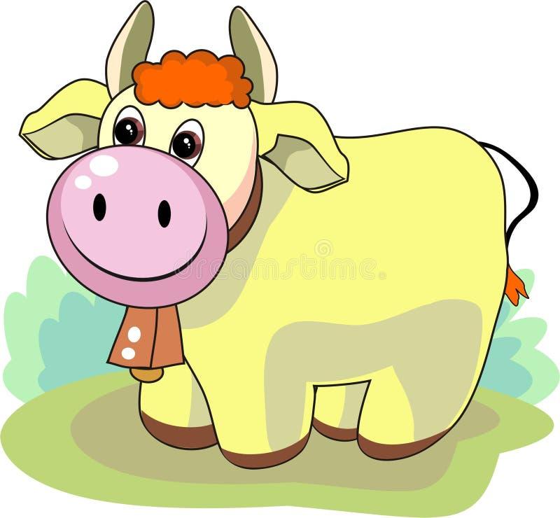 Friendly bull vector illustration