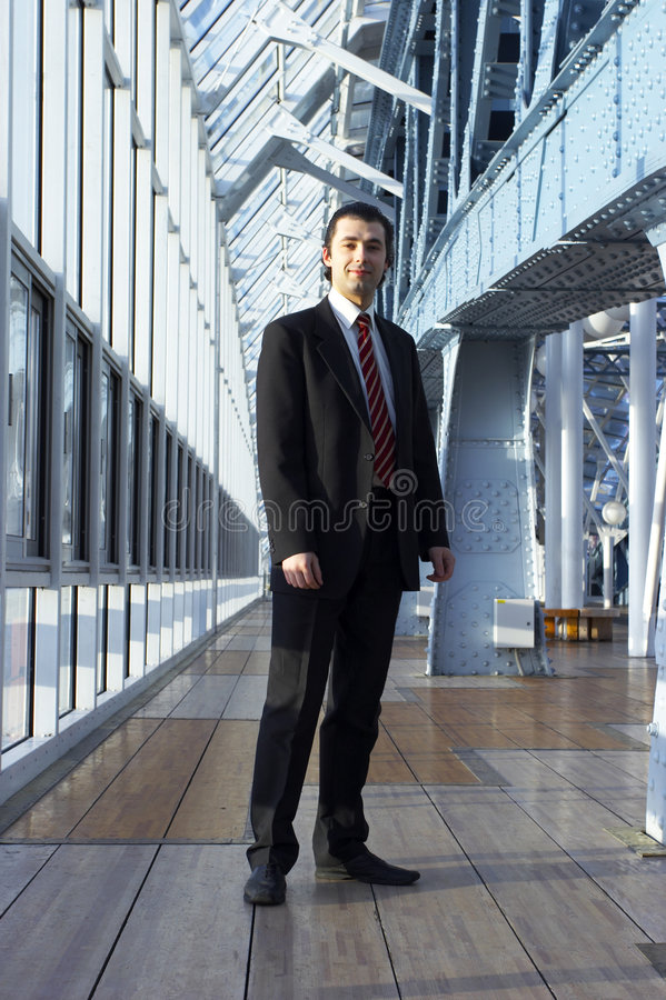Friendly business man stock photo