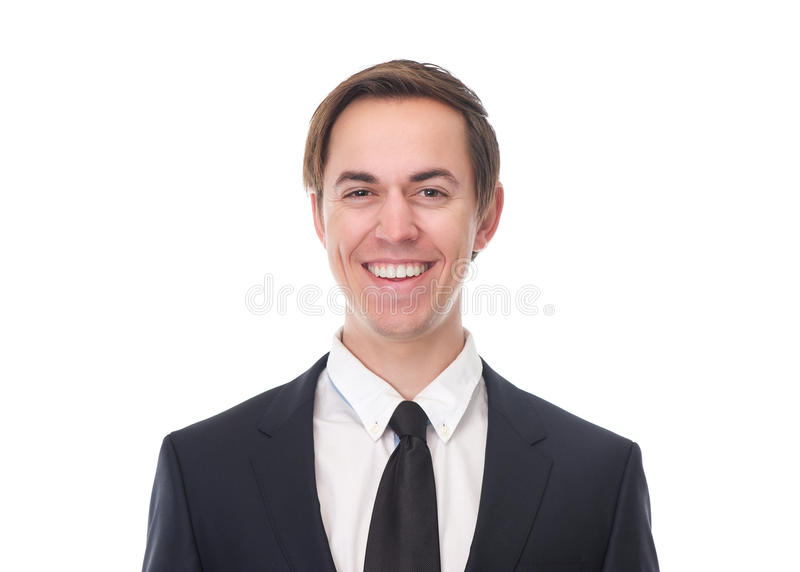 Friendly business man smiling royalty free stock image