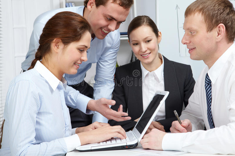 Download Friendly business team stock image. Image of brainstorming - 17787827