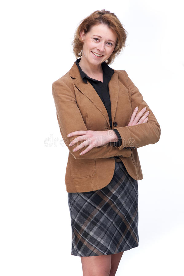 Friendly Business Woman royalty free stock photography
