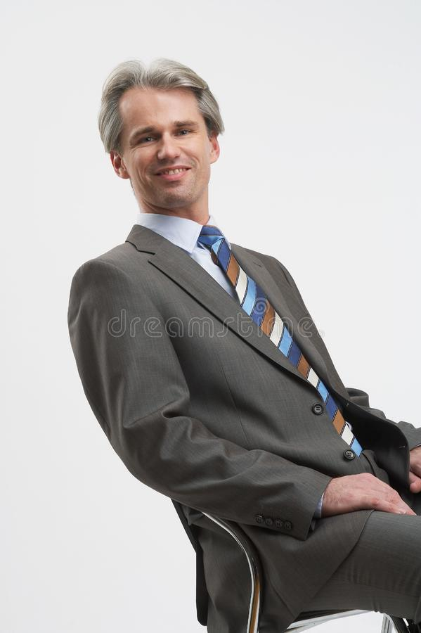 Friendly businessman royalty free stock photography
