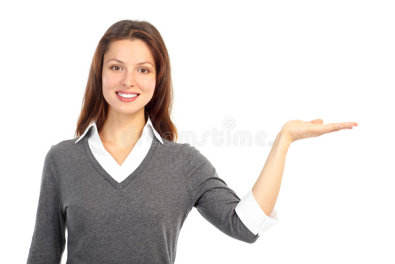 Friendly businesswoman stock photo