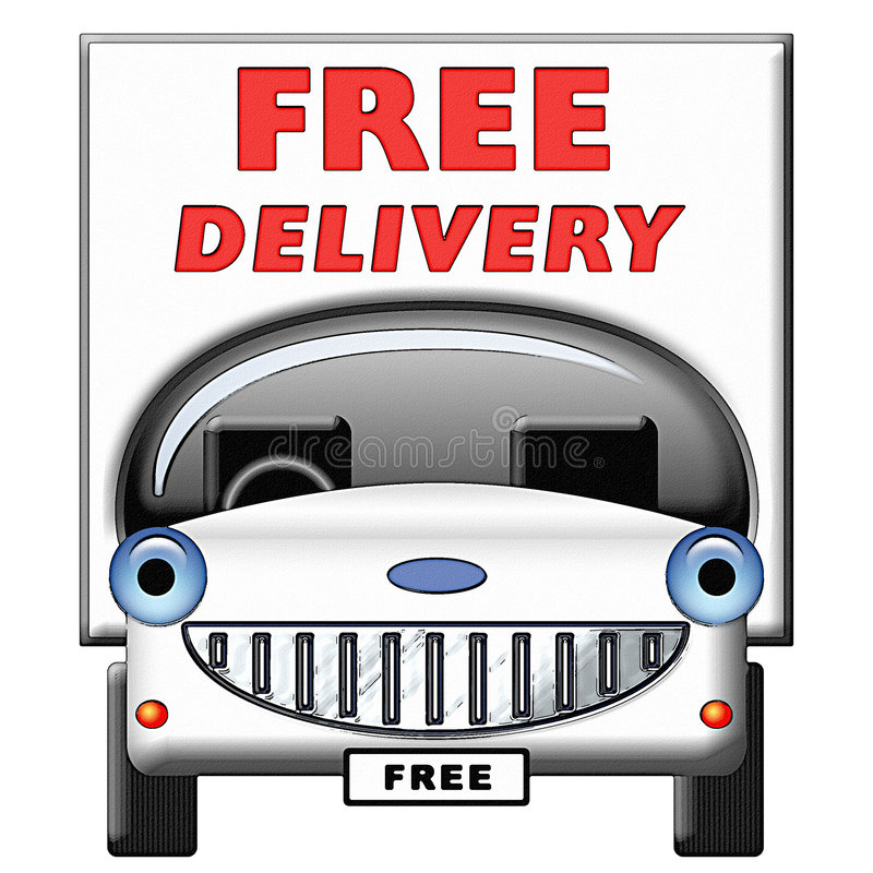Download Friendly Cartoon Delivery Van Stock Illustration - Illustration: 3298078