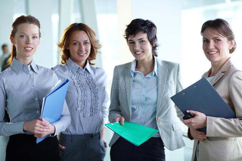 Download Friendly colleagues stock photo. Image of beautiful, looking - 33656490