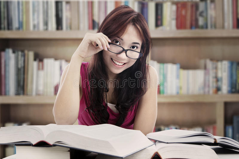 Download Friendly College Student At Library Royalty Free Stock Image - Image: 26594066