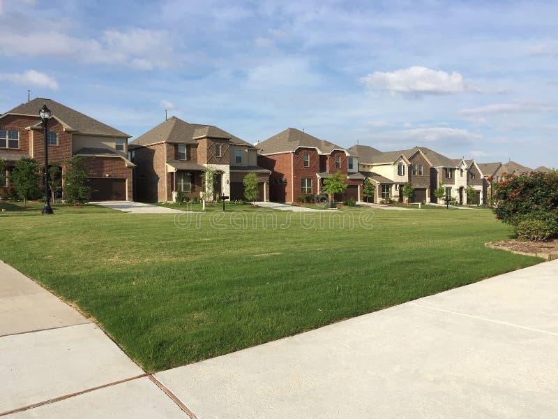 Friendly community in suburban TX USA stock image