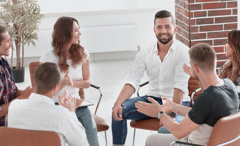 Creative team of young people. royalty free stock image