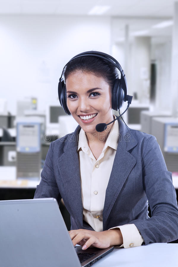 Friendly Customer Support Royalty Free Stock Photo
