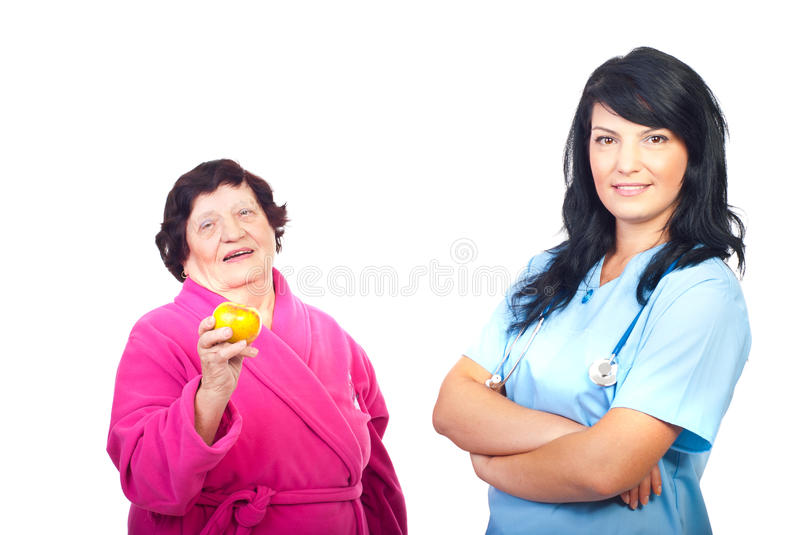 Friendly Doctor And Healthy Patient Stock Photos
