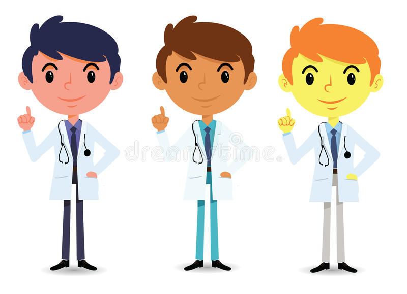 Friendly doctor royalty free stock photography