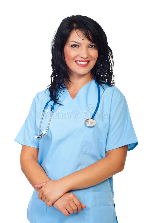 Download Friendly doctor woman stock image. Image of natural, nurse - 16172941