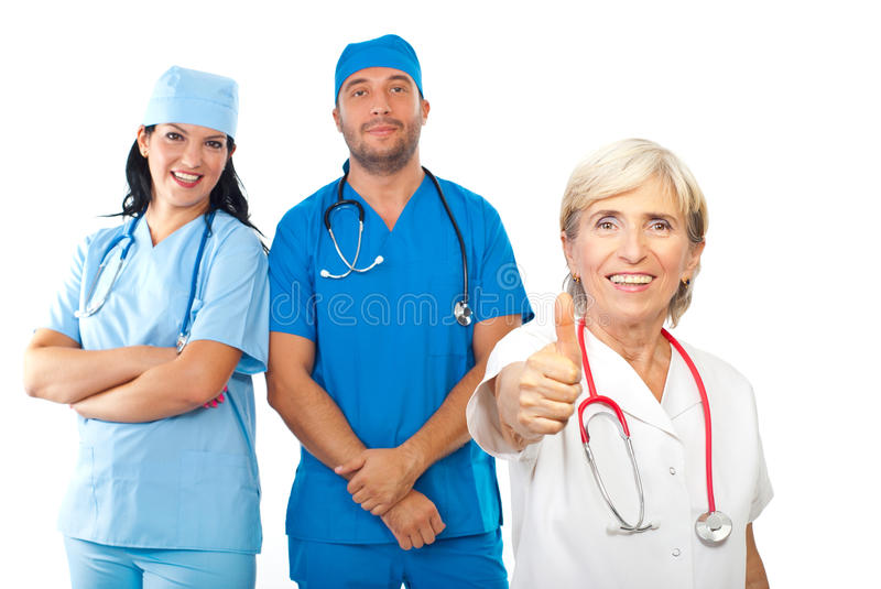 Download Friendly Doctors Team Give Thumbs Stock Image - Image: 16173187