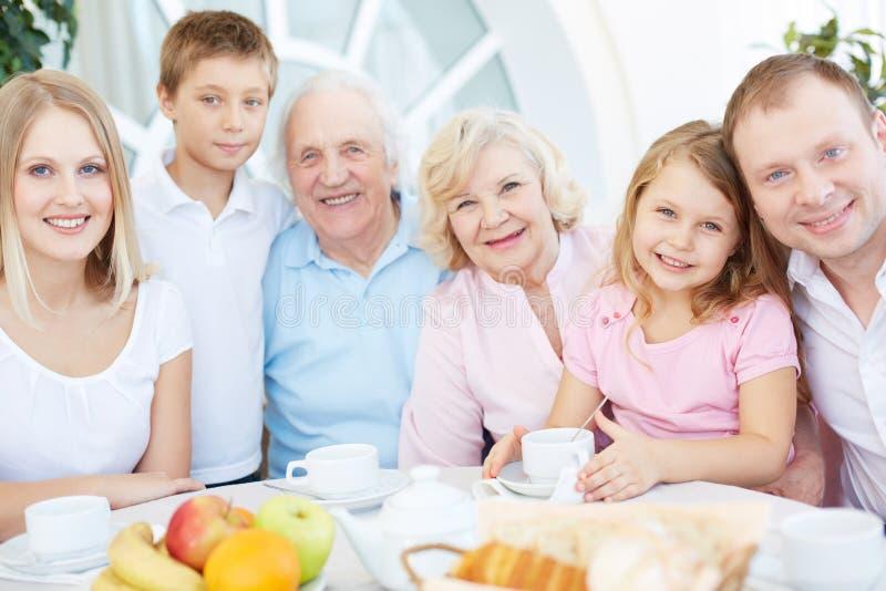 Friendly Family Royalty Free Stock Image