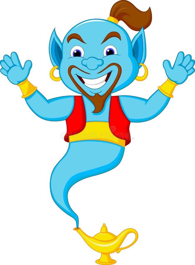 Friendly genie cartoon stock illustration