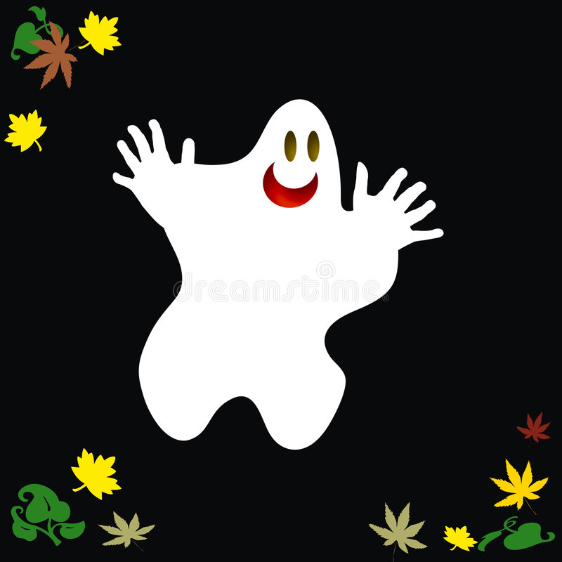Friendly Halloween ghost stock illustration
