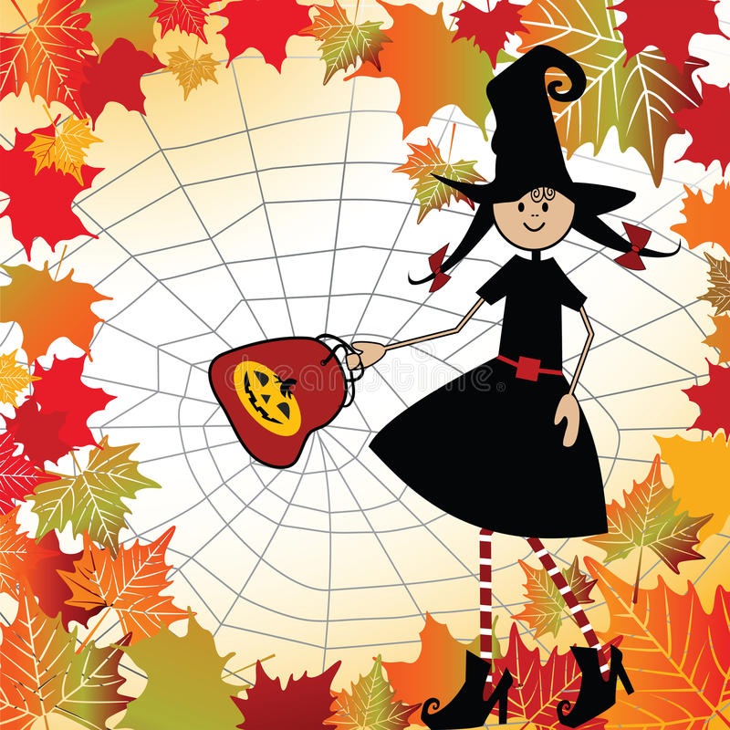 Download Friendly Halloween Witch stock vector. Image of child - 15456397
