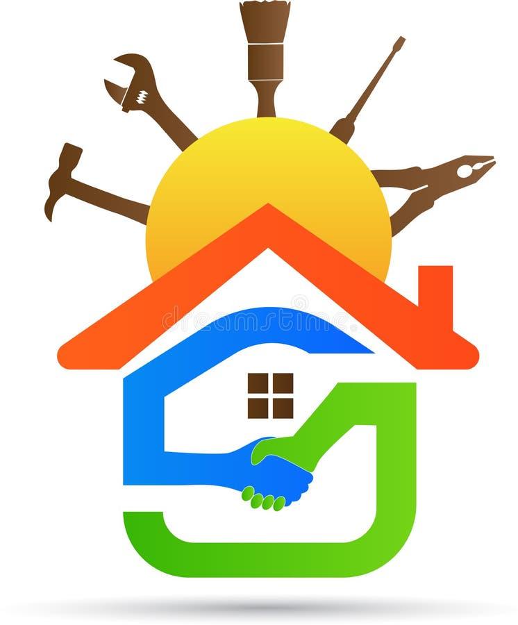 Friendly home renovation stock illustration