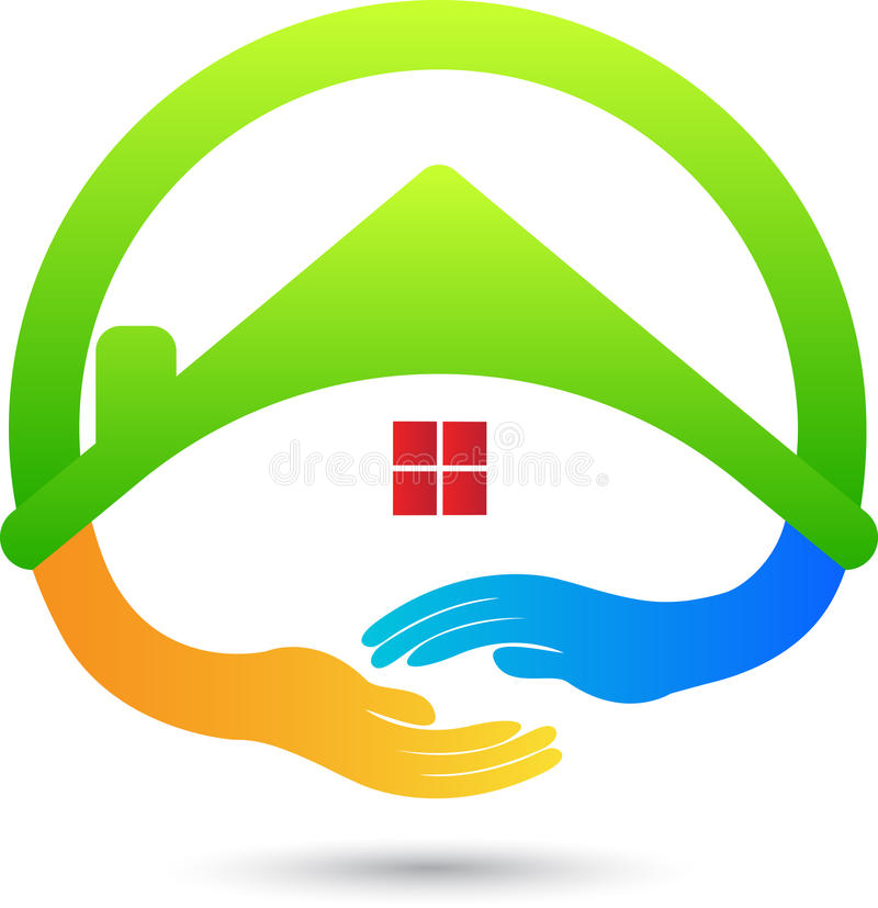 Friendly home royalty free illustration