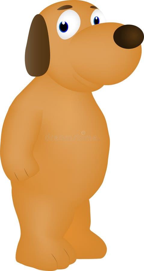 Friendly and kind cartoon dog smiling stock illustration