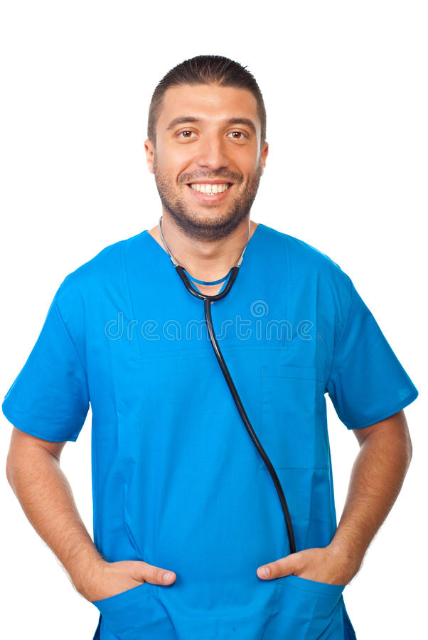 Friendly male doctor stock photos